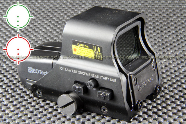 China Made 556 Style Red Green Dot Black LR44 Holographic Sight (With Marking) RDS-017