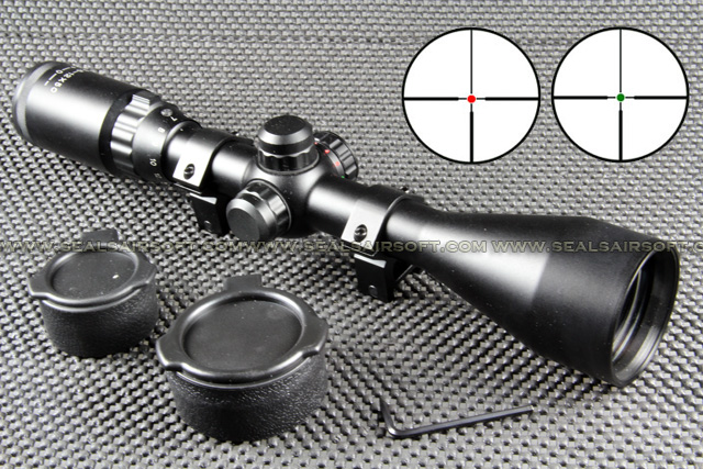 TASCO Type 3.5-12x50 Red Green Target Dot Rifle Scope RS-014