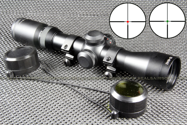 TASCO Type 1.5-6x42 Red Green Target Dot Rifle Scope RS-013