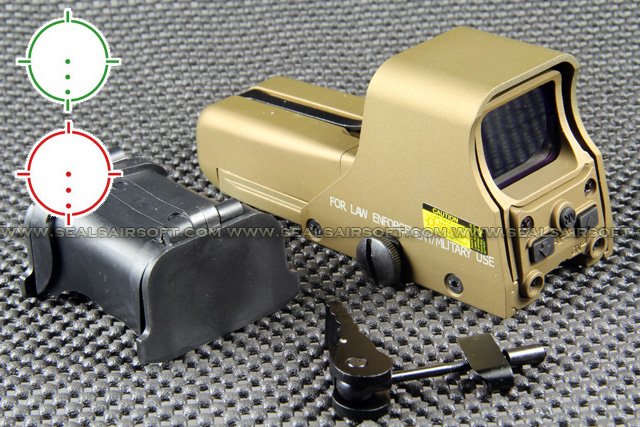 China Made 552 Style Red Green Dot Gold AA Holographic Sight RDS-030
