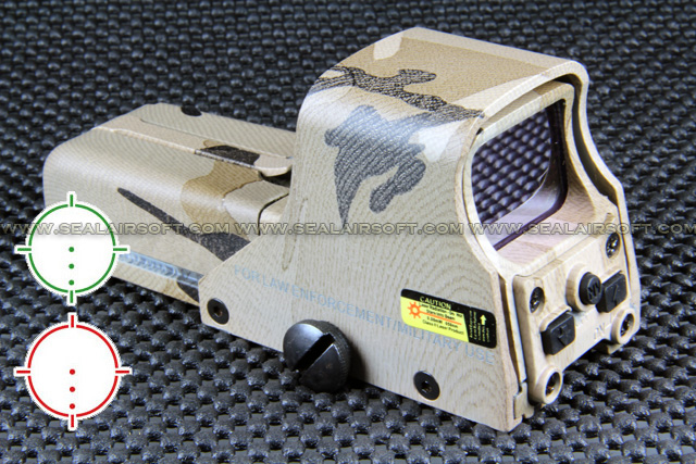 China Made 552 Style Red Green Dot Desert Camo AA Holographic Sight RDS-051