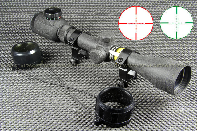 BSA Deerhunter Type 3-12x40 Red Green Mil-Dot Rifle Scope With Mounts RS-034