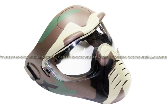 APS Heavy Duty Face Mask with Anti-Fog Lens (Woodland Camo)