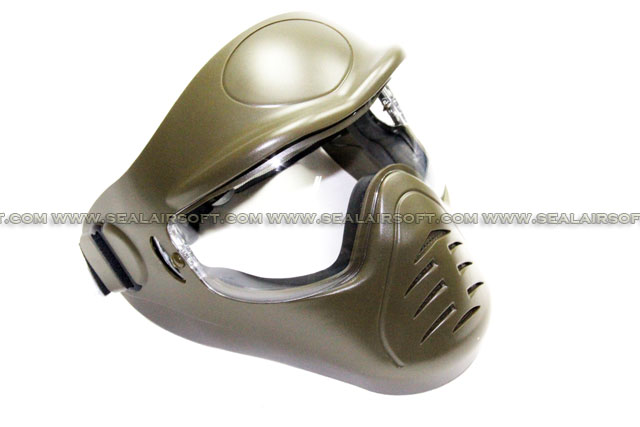 APS Heavy Duty Face Mask with Anti-Fog Lens (Olive Drab)