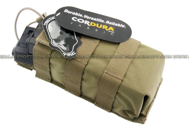 TMC MOLLE Universal Open Top Hard Big Pouch (Khaki)