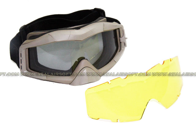 ARMY FORCE Wind Dust Tactical Goggle (Tan)