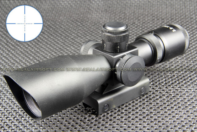 2.5-10x40 Blue Reticle Mil-Dot Scope With QD Mount RS-035