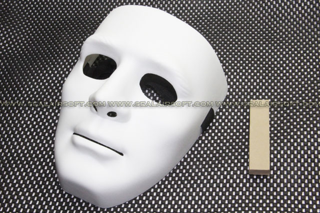 All China Made Full European Face Plastic White Protector Mask 09