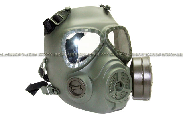 Tactical MO4 Toxic Mask Style Goggle With Fan System Olive Drab MK-M04-OD