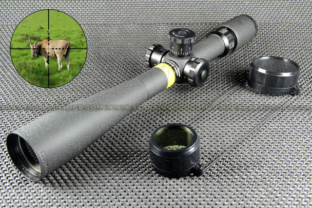 BSA Deerhunter type 8-32x44 Side Wheel Focus Mil-Dot Rifle Scope RS-036
