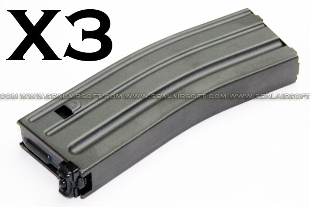SE 120rds Metal Magazine For SYSTEMA PTW M4/M16 Series AEG SE-SMAG-PTW-3PCS