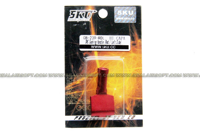 5KU CNC Cocking Handle For Marui Hi-Capa 5.1 (Red / Left Side)