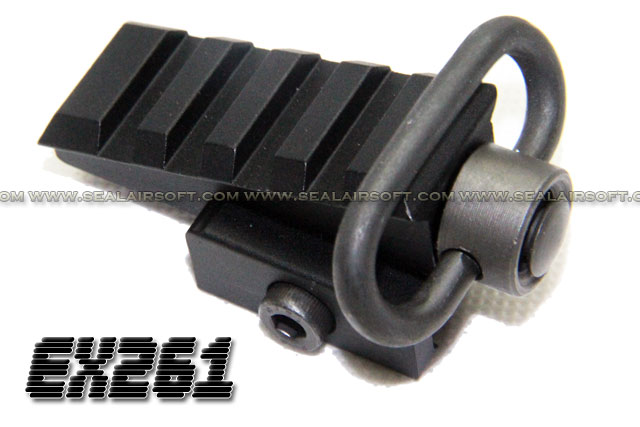 Element Pyramid Angled Rail Adaptor (Black) - EL-EX261-BK