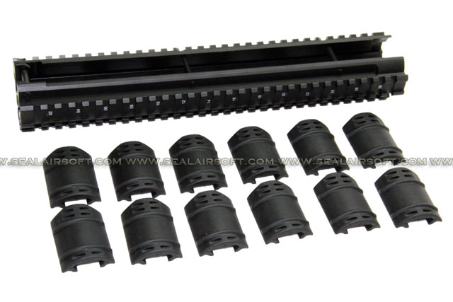 SE Tactical Handguard With Rubber Cover Set For G3 Series SE-HD-G3