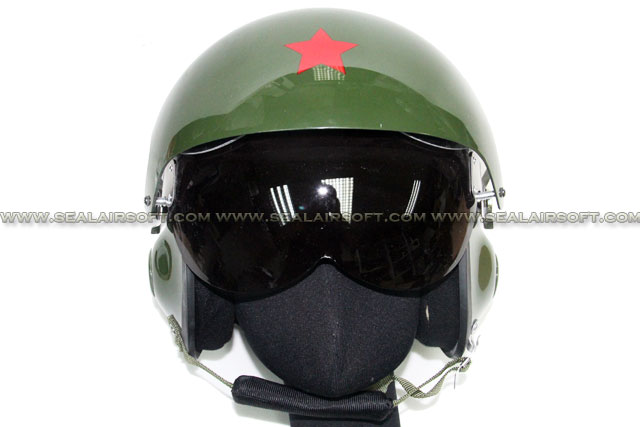 SE China PLA Air Force Helmet With 2 Color Lens Glass (Olive Drab) HT-18-OD