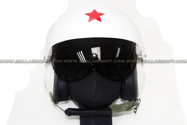 SE China PLA Air Force Helmet With 2 Color Lens Glass (White) HT-18-WH