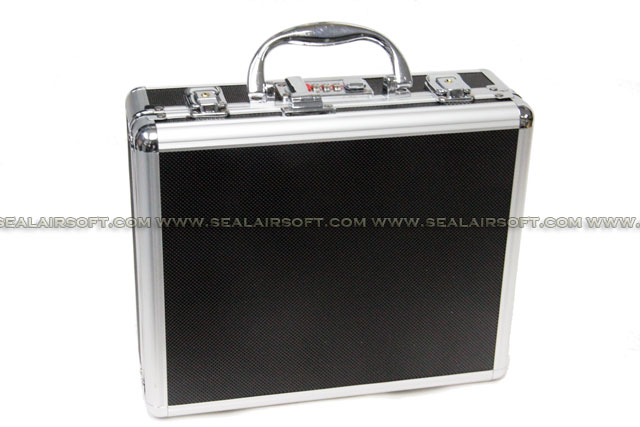 SA Aluminum Pistol Gun Box With Code Lock (Black) SAP-BOX-CLOCK-BK
