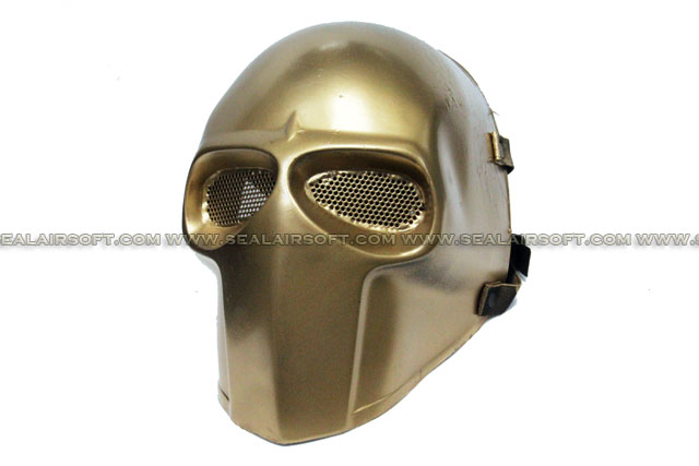 Army of Two Mask Fibreglass Airsoft Paintball Helmet (Gold) - MASK-041-GOLD