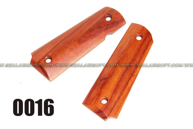 FE Pistol Grip Cover Set for M1911/MEU/R27/R28/R29 (Red Palisander Wood)