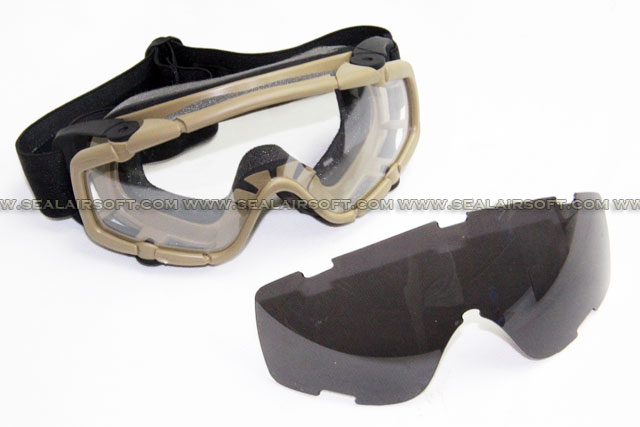 ARMY FORCE FMA Goggle With Spare Glass Set (Dark Earth) AF-GO-0020-DE