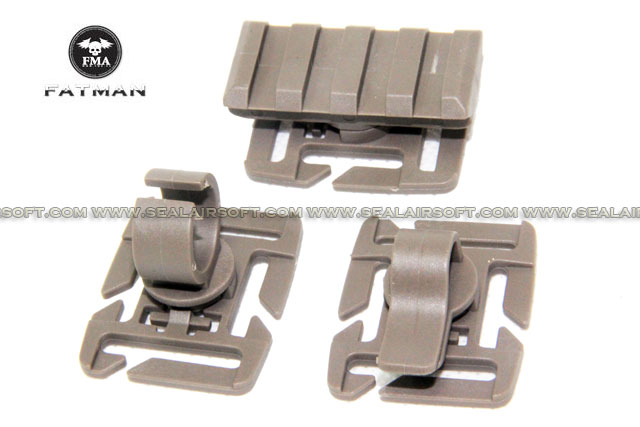 FMA 3 Type Adaptor for 25mm Webbing (Dark Earth) FMA-TB541