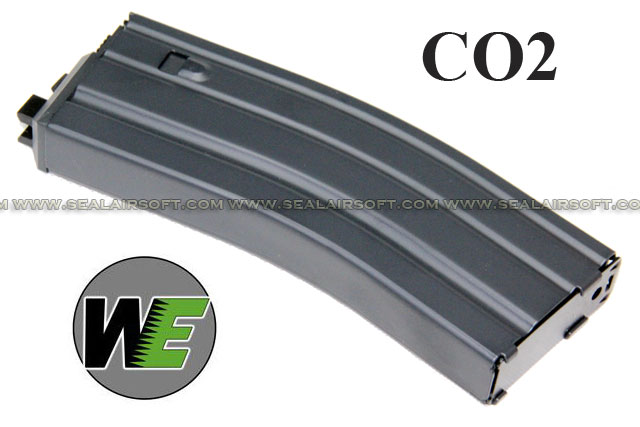 WE 32rds CO2 Magazine for WE M4/M16/SCAR Series -BK  - WE-BK-M4-OB-CO2-MAG