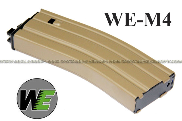 WE 30rd GAS Magazine for M4 Series GBB TAN - WE-TAN-M4-OB-MA