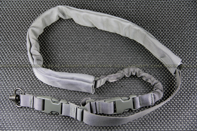 Single Point Gray Rifle Sling With Leather Pad SL-001-GY