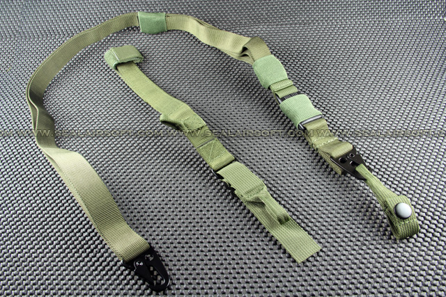 G&P 3 Point QD Tactical Gun Sling (Green) GP116O