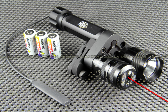 G&P Aiming Laser With 9V Xenon Flashlight For Front Sight (Red Dot) GP577D