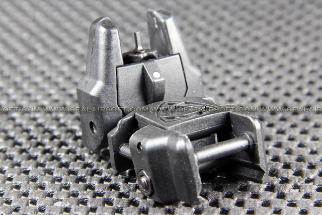 APS RHINO Auxiliary Folding Sight (Front, Black) APS-GG038B