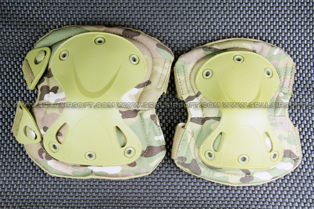 9mm Type Tactical X-tak Paintball Knee & Elbow Pad Set (Multi-Cam) KP-002-MC