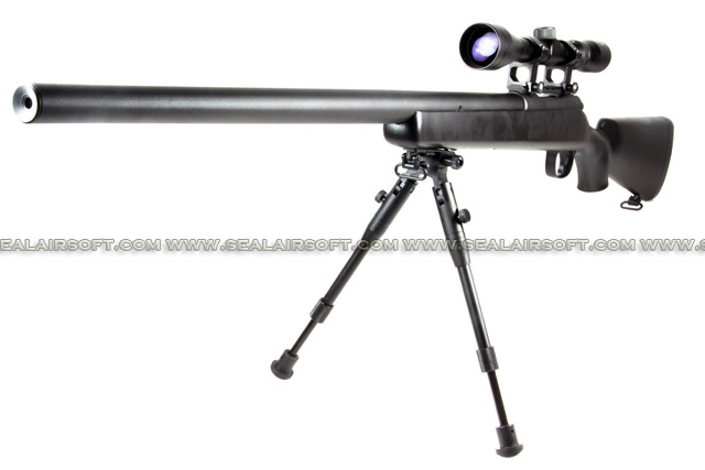 WELL VSR-10 Bolt Gas Sniper Rifle With Bipod & Scope (Black) WELL-G23D