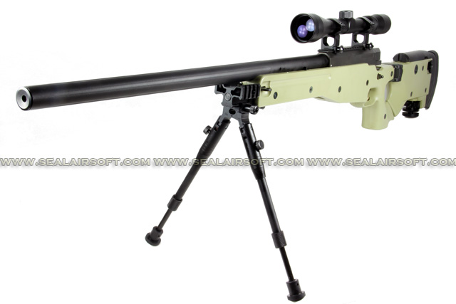 WELL G96D AW .338 Sniper Rifle with Scope and Bipod (MB08D, Tan) WELL-MB08D-TAN