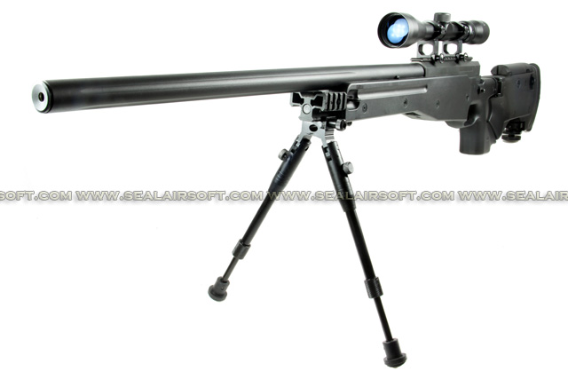 WELL G96D AW .338 Sniper Rifle with Scope and Bipod (MB08D, Black) WELL-MB08D-BLK