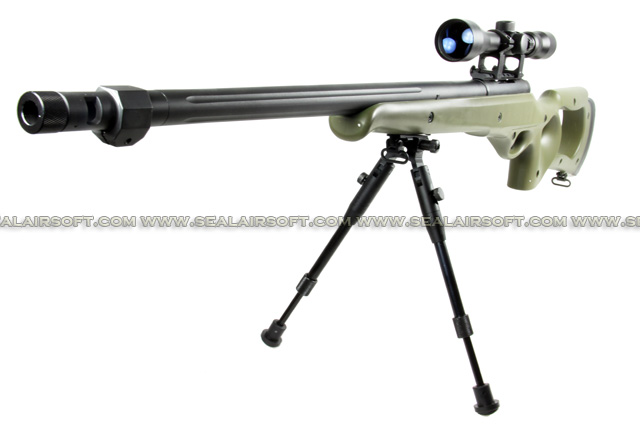 WELL MB-10 Spring Sniper Rifle with Scope and Bipod (MB10D, Olive Drab) WELL-MB10D-OD