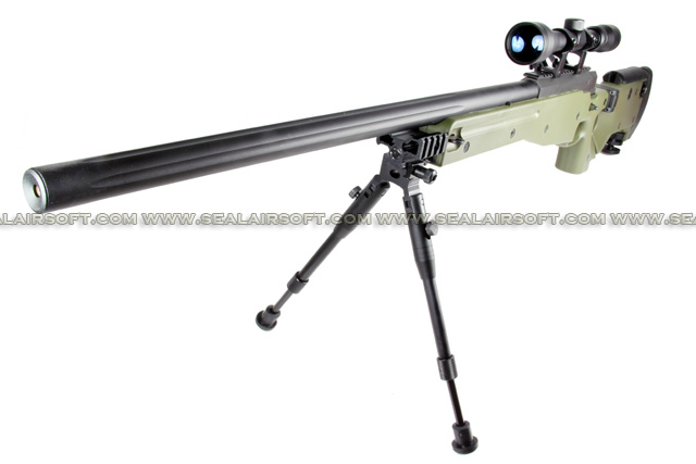 WELL G96D AW .338 Sniper Rifle with Scope and Bipod (MB08D, Olive Drab) WELL-MB08D-OD