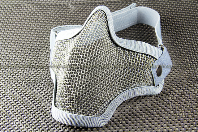 ACM Airsoft Metal Mesh Wire Half Small Gray Mask Mask-025-GY