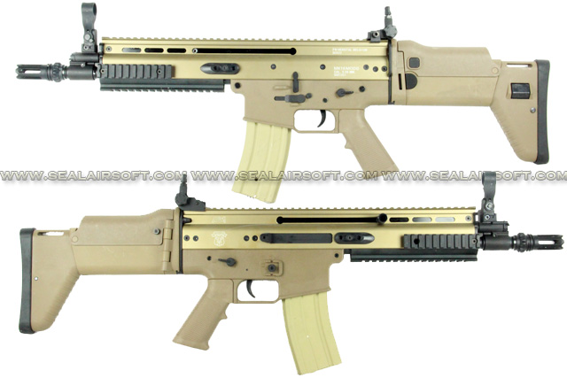 AGM SCAR Metal Airsoft AEG Rifle Gun (Dark Earth , 055B) AGM-AEG-055B