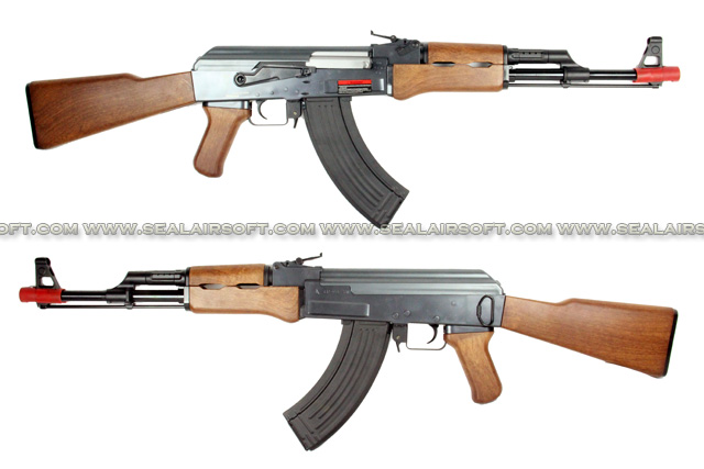 ASIA Electric Guns AK47 AEG Rifle (Black) ASIA-AEGR-AK47