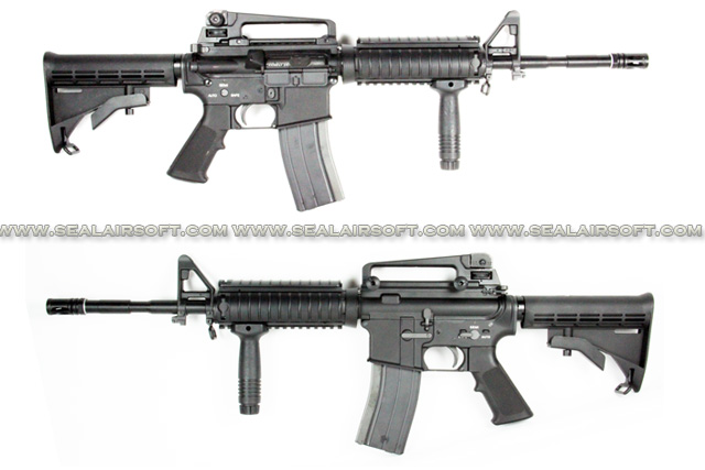 AGM M4 RIS Gas Blow Back Rifle With Extendable Stock AGM-AEG-062