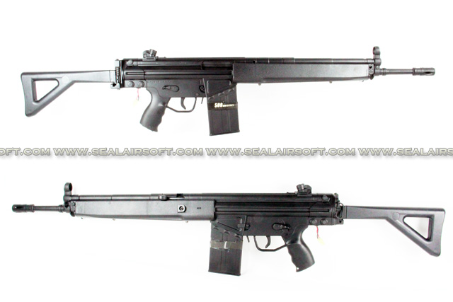 L&H G3A3 Metal Body AEG SMG Rifle with Foldable Stock (M3A1) LH-AEG-M3A1