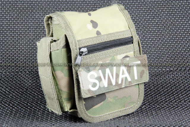 Utility Multi-Camo Belt Pouch With SWAT Patch PH-002-MC