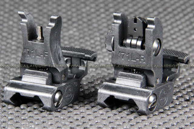 ACM #71L F/R Front & Rear Folding Sight Set (Black) ACM-FRS-71L-BK