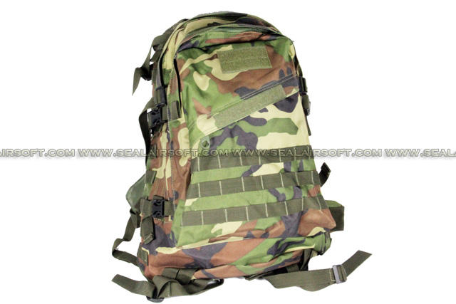 ACM 3-Days MOLLE Large Assault Backpack (Woodland Camo) BG-01-WC