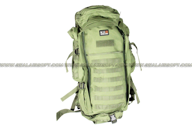 9.11 Tactical Full Gear Rifle Combo Backpack (Green) BG-02-GN