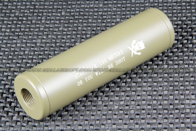 ACM 110x30mm Skull Silencer (14mm CW/CCW, Tan) ACM-SIL-02T