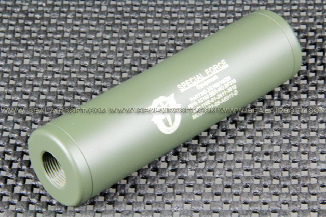 Spartan Doctrine 110x30mm Special Force Silencer (14mm CW/CCW, OD) SD-SIL-09R