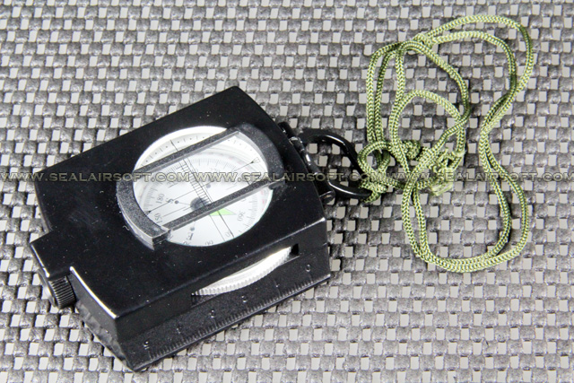 Camping Hunting Metal Military Compass With Pouch Black CS-01-BK