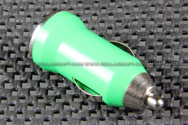 USB Car Charger Adaptor For Apple IPhone IPad IPod MP3 Mobile Green USBCA-GN